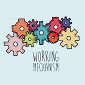 Working mechanism — Stock Vector