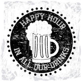 Happy hour — Vecteur