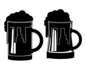 Bier-design — Stockvektor