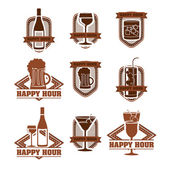 Drinks labels — Stock Vector