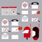 E-mail typen — Stockvector