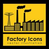 Iconos de fábrica — Vector de stock
