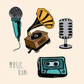 Music icons — Vetor de Stock