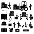 Suitcases icons — Stock Vector