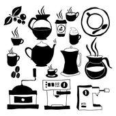Kahve simgeler — Stok Vektör