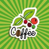 Kahve tasarım — Stok Vektör