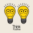 Think  positive — Image vectorielle