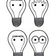 Bulbs icons — Image vectorielle