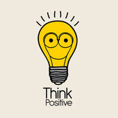 Think positive — Stock Vector
