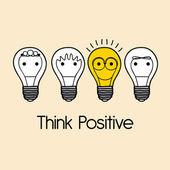Tänka positivt — Stockvektor