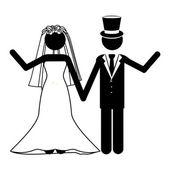 Hochzeit design — Stockvektor