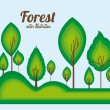 Forest design — Stock Vector