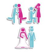 замуж дизайн — Cтоковый вектор
