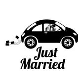 Just married — Stockvector