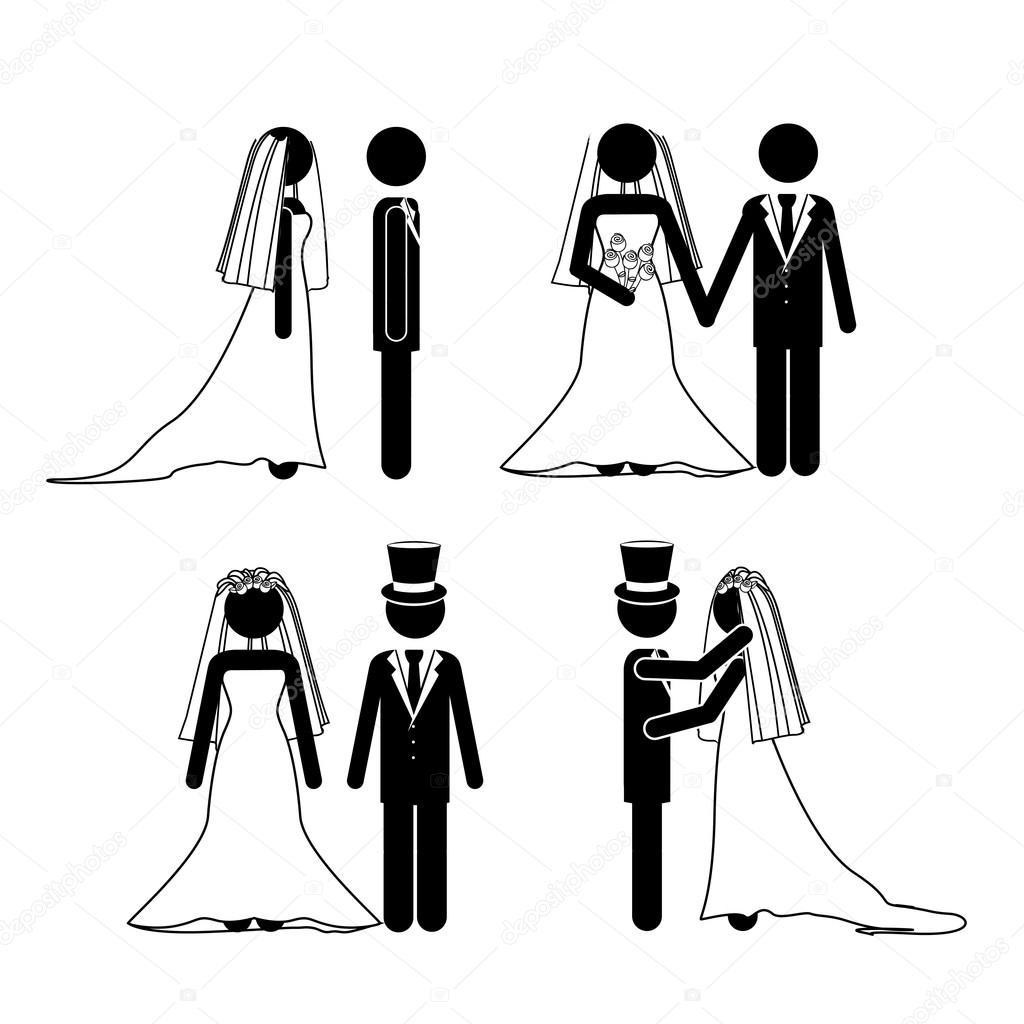 婚纱设计 — 图库矢量图像08