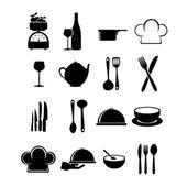 Restaurant icons — Stock Vector