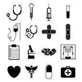 Medical icons — Vetor de Stock