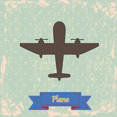 Plane design — Stock Vector
