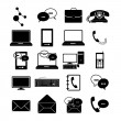 Communications icons — Stock Vector