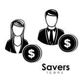 Saver icons — Stock Vector
