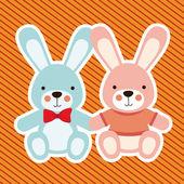 Rabbits design — Stock Vector