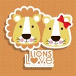 Lions design — Stock Vector