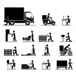 Jobs icons — Image vectorielle