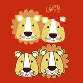 Lions design — Stock Vector