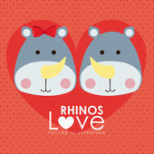 Diseño de rinocerontes — Vector de stock