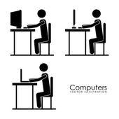 Computers design — Stock Vector