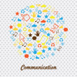 Communications icons — Stock Vector #30530413