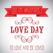 Love day Poster — Stock Vector