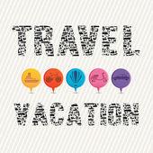 Travel vacation — Stock Vector