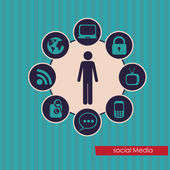 Sociale media — Stockvector