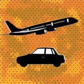 иконки транспорт — Cтоковый вектор