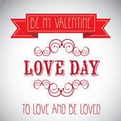 愛の日ポスター — ストックベクタ