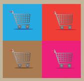 Shopping carts — Stock Vector