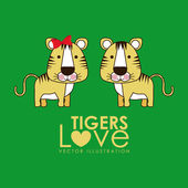 Tigers design — Stock Vector