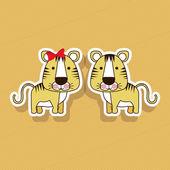 Tigers design — Stock Vector