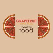 Grapefruit citrus fruit — Stock Vector