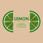 Limon tasarım — Stok Vektör