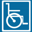 Stock Vector: Wheelchair