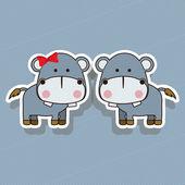 Hippos design — Stock vektor