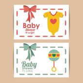 Baby douche ontwerp — Stockvector