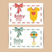 Baby shower design — Stockvektor
