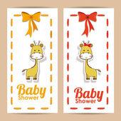 Baby shower design — Vector de stock