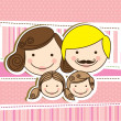 Stock Vector: Happy family