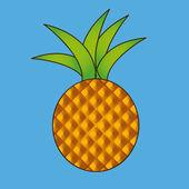 Pineapple — Vector de stock