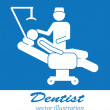Постер, плакат: Dentist icons