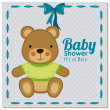 Stock Vector: Baby shower design
